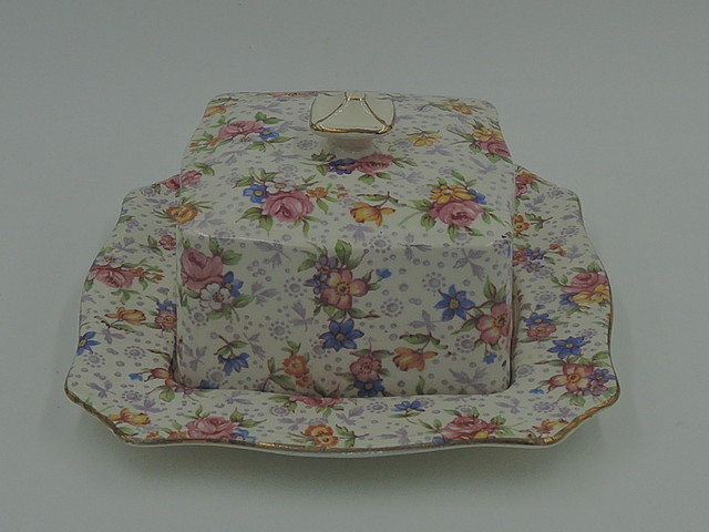Vintage Royal Winton Chintz Eleanor Butter/Cheese Dish