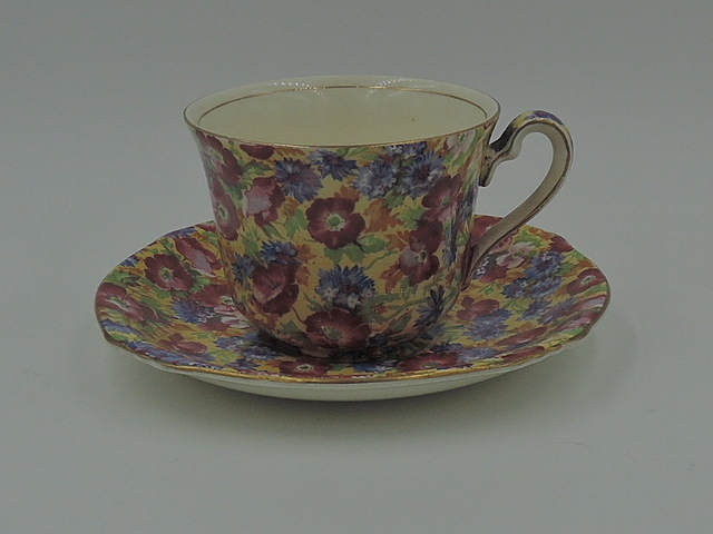Vintage Royal Winton Chintz Royalty Cup & Saucer Teacup