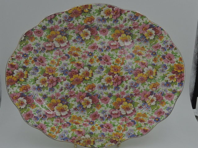 Vintage James Kent Chintz Du Barry Large Platter Old Mark