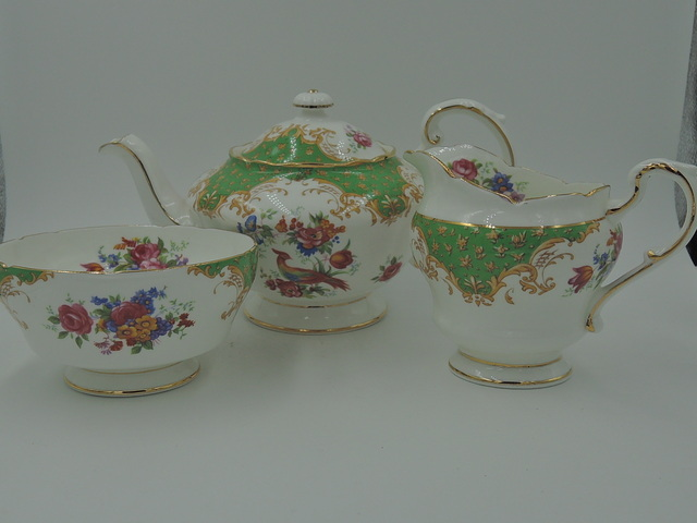 Beautiful Vintage Paragon Rockingham Tea Set w/Teapot Excellent