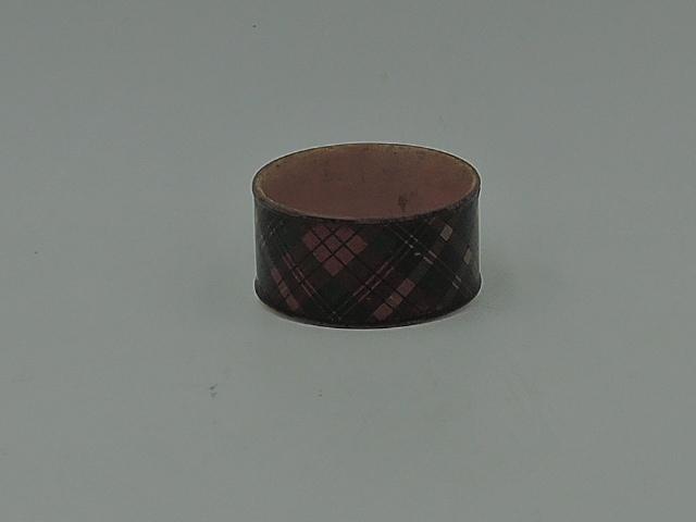 Antique Scottish Tartan Ware Tartanware MacBeth Plaid Napkin Ring M'Beth