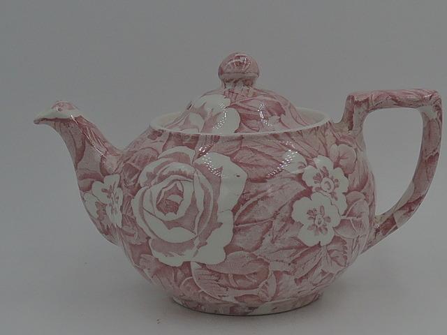 Vintage Burleigh Ware Pink Victorian Chintz Teapot