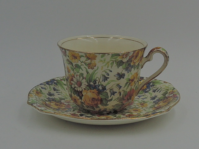 Vintage Royal Winton Chintz Bedale Cup & Saucer Teacup