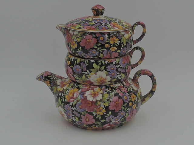 James Kent Chintz Lydia Stacking Teapot Stacked Tea For One