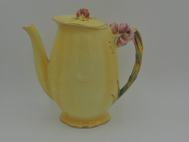 Vintage Royal Winton Yellow Tiger Lily Coffee Pot/Teapot