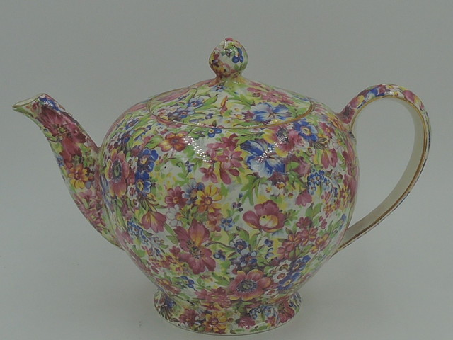 Vintage Royal Winton Chintz Sunshine 4 Cup Albans Shape Teapot