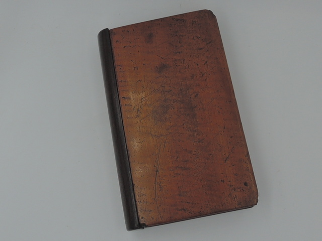 Antique 19th C. Mahogany Wood Secret Compartment Hidden Chamber Wooden Book
