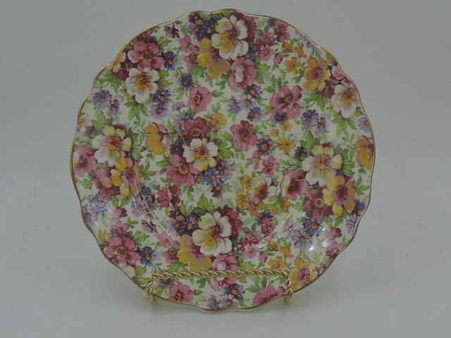 "Vintage James Kent Chintz Du Barry 6.5"" Plate Old Mark Tea"