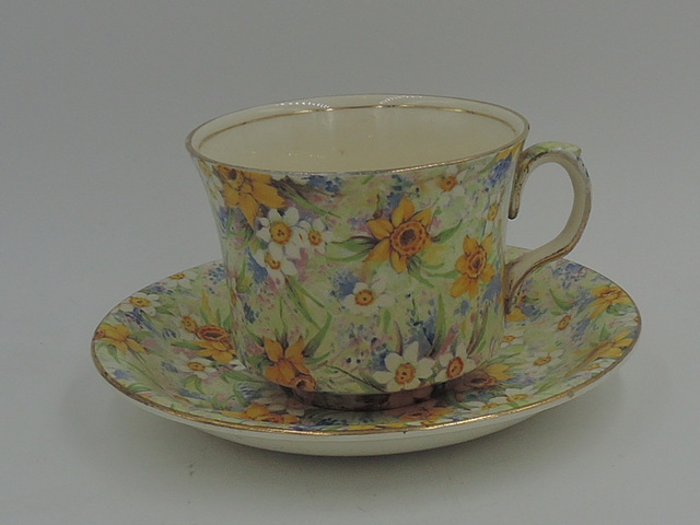 Vintage Royal Winton Chintz Richmond Cup & Saucer Teacup 1950's
