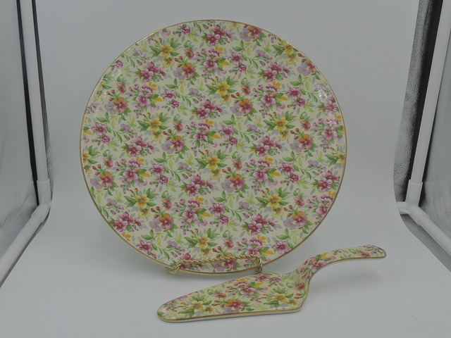 Vintage Royal Winton Chintz Estelle Cake Plate & Pie Server