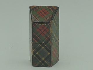 Antique Tartan Ware Plaid MacBeth Needle Case Holder Box
