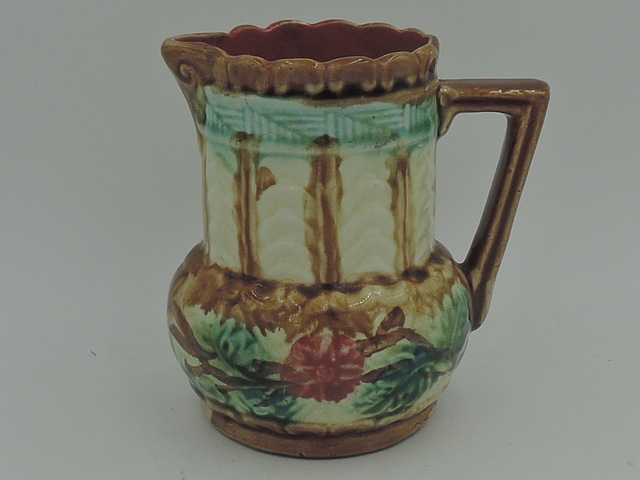 Antique French Majolica Pitcher Jug 1880's