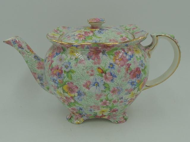 Vintage Royal Winton Chintz Marion Athena Teapot 1950's