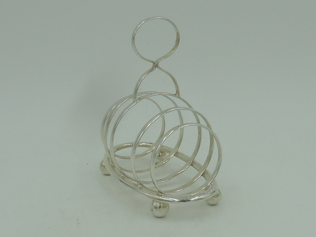 Antique Mappin & Webb Sterling Silver 4 Toast Rack London 1922