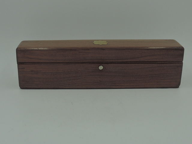 Antique English Maple Wood Pencil Box Wooden Dated Oxford 1853