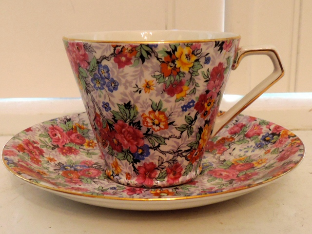 Vintage Lord Nelson Chintz Marina Cup & Saucer Beautiful Roses!