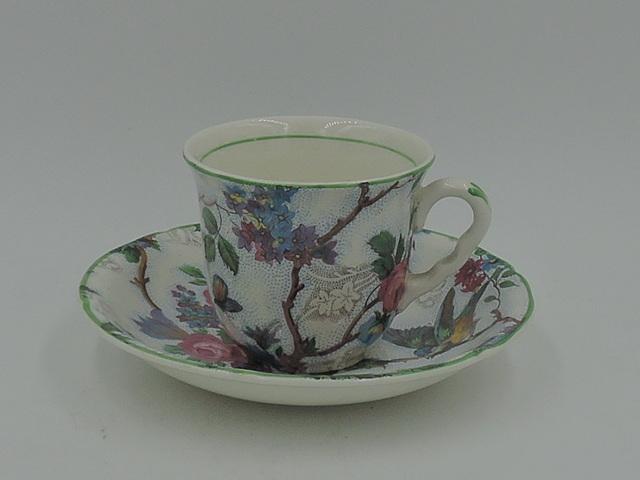 Vintage Midwinter Chintz Lorna Doone Petite Cup & Saucer Blue Bird