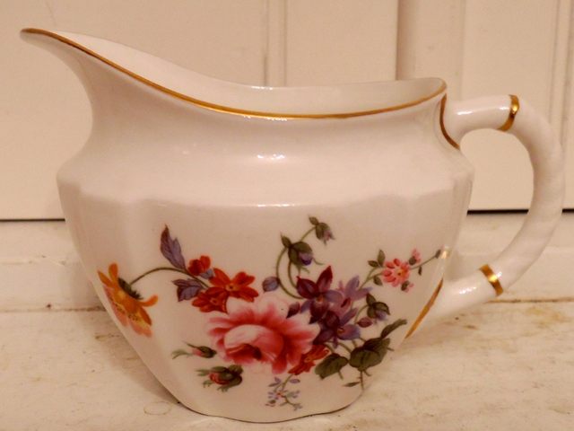 Vintage Royal Crown Derby Posies Creamer Bone China