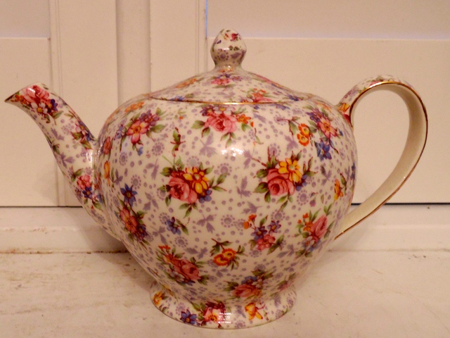 Vintage Royal Winton Chintz Eleanor Teapot Albans Shape 1950's
