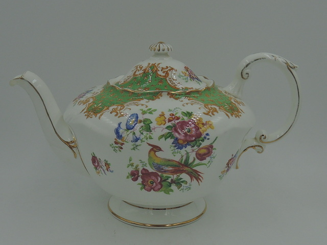 Vintage Paragon Rockingham Large Teapot Fine Bone China Rare!