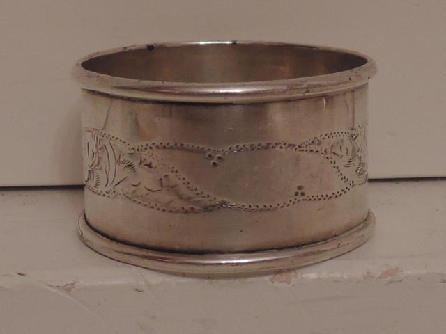 Antique Sterling Silver English Napkin Ring Hallmarked Birmingham 1906