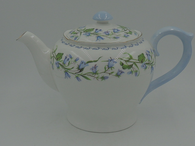 Vintage Shelley Harebell Large Teapot Richmond Shape 6+ Cups Ex. Condition