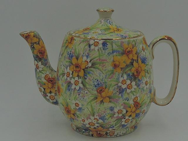 Vintage Royal Winton Chintz Richmond 3 Cup Countess Teapot Old Mark