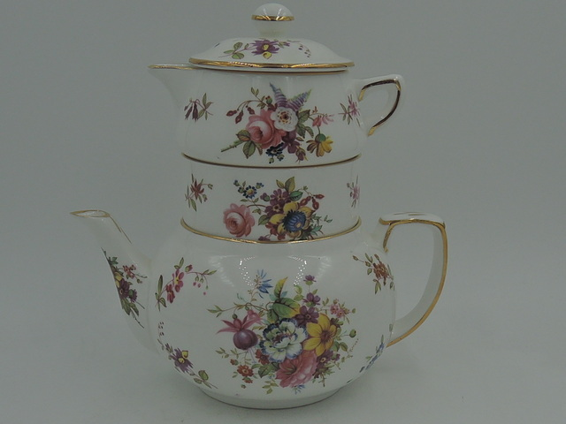Vintage Hammersley F. Howard Sprays Stacked Teapot Mint Condition