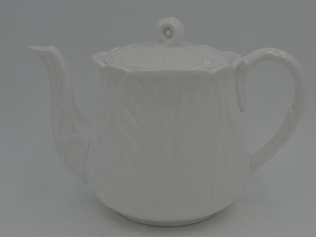 Vintage Shelley Oleander White Teapot Mint Condition 3 Cup