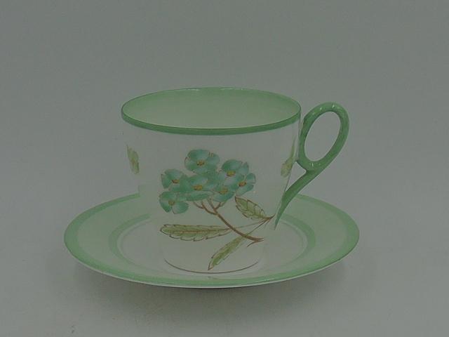 Vintage Shelley Green Sweet William Porcelain Petite Cup & Saucer 12489 795072