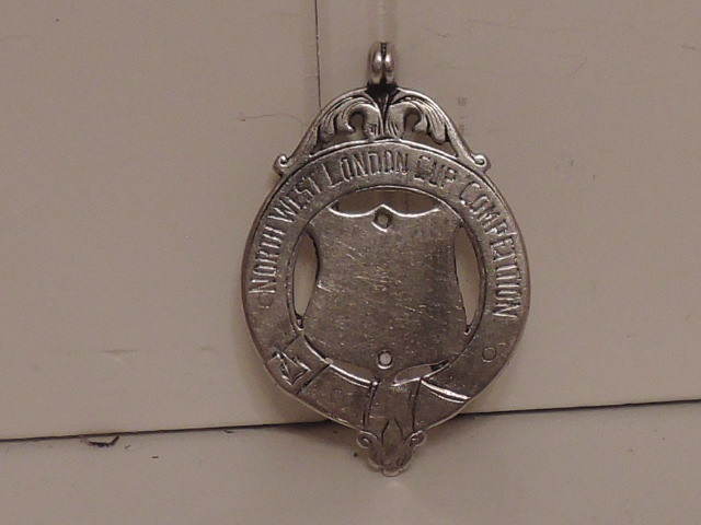 Antique English Sterling Silver Watch Fob London Hallmarked 1914