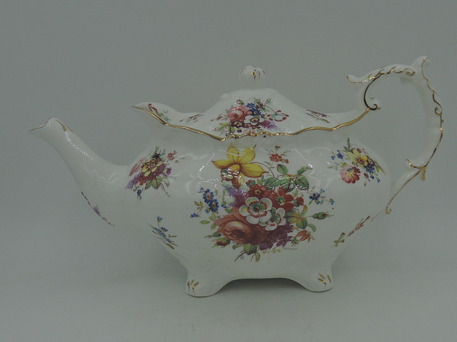 Vintage Hammersley F. Howard Minuet Hand Painted Teapot Gorgeous!