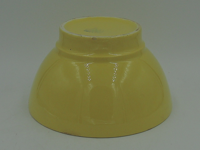 Vintage French Cafe Au Lait Bowl Pottery 1940's Yellow