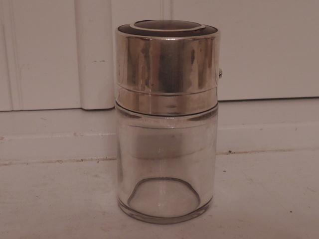 Antique English Sterling Silver & Tortoiseshell Perfume Bottle Pipe Tobacco
