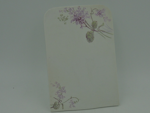 Antique French Porcelain Menu Stand Board w/Lilacs 1900's