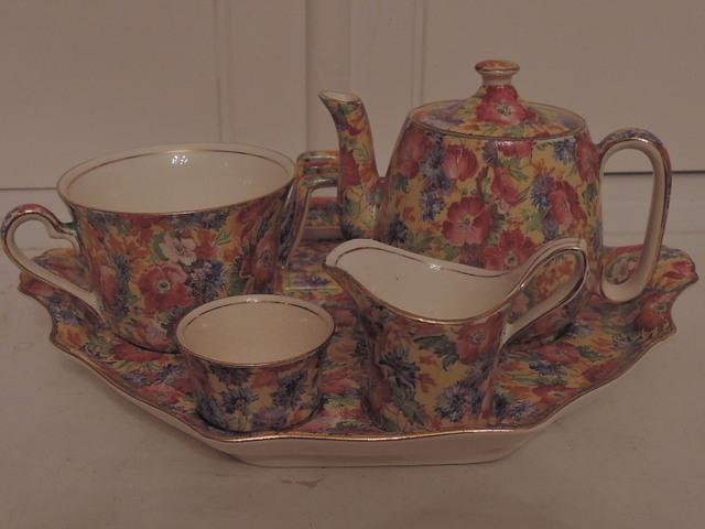 Vintage Royal Winton Chintz Royalty Breakfast Set Tea For One Teapot Old Mark