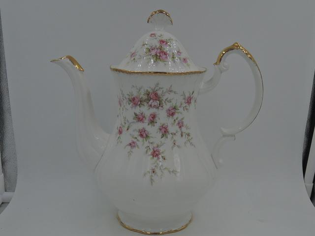 Vintage Paragon Victoriana Rose Coffee Pot/Teapot Pink Roses