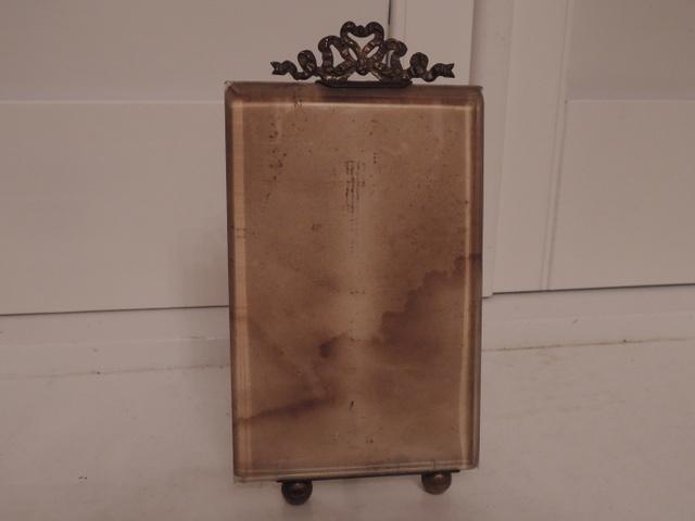 "Vintage French Ormolu Bow Gilt Photo Frame 5.5"" x 3.5"" Picture"