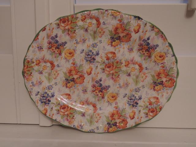 Rare! Vintage James Kent Chintz Harmony Platter Dish Plate