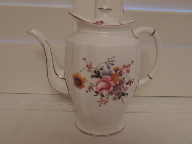 Large Vintage Royal Crown Derby Posies Teapot/Coffee Pot Bone China