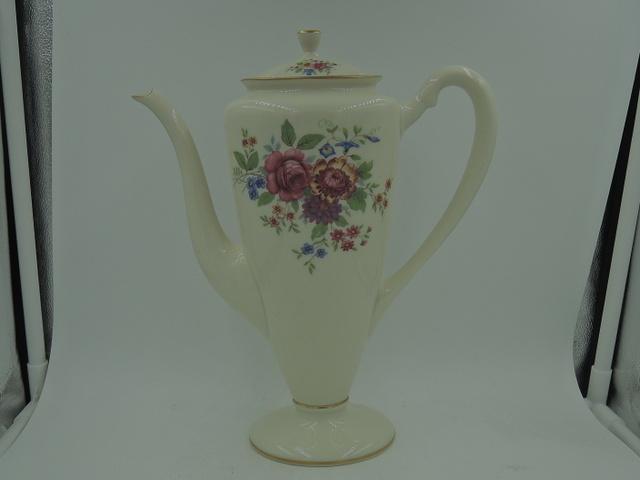 Rare Shape Lenox Aurora Coffee Pot l-347 Mint