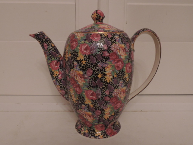 Vintage Royal Winton Chintz Hazel Teapot/Coffee Pot 1930's Pink Roses