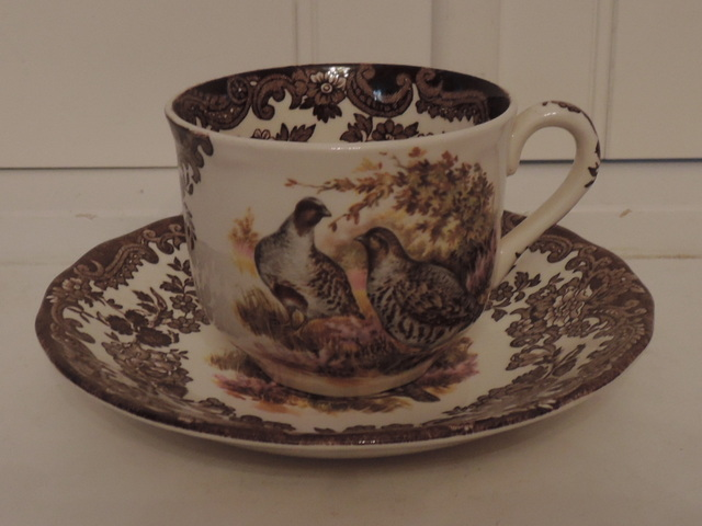 Vintage Royal Worcester Palissy Game Series Cup & Saucer Mallards, Quails