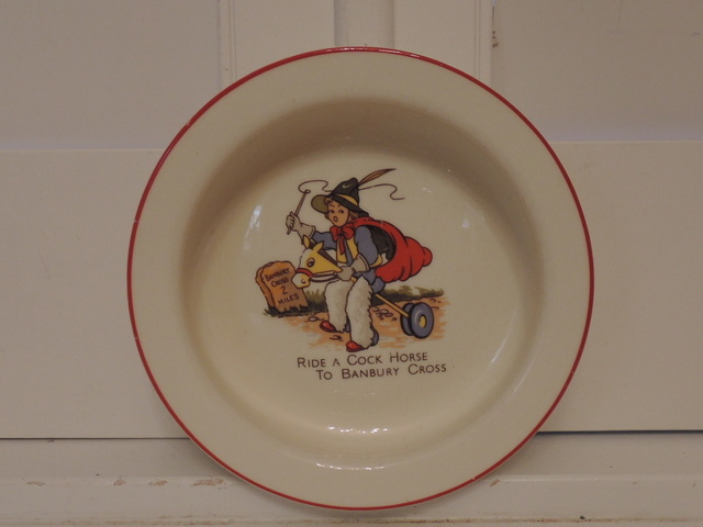 English Child's Ride A Cock Horse Rhyme Dish Bowl Bone China