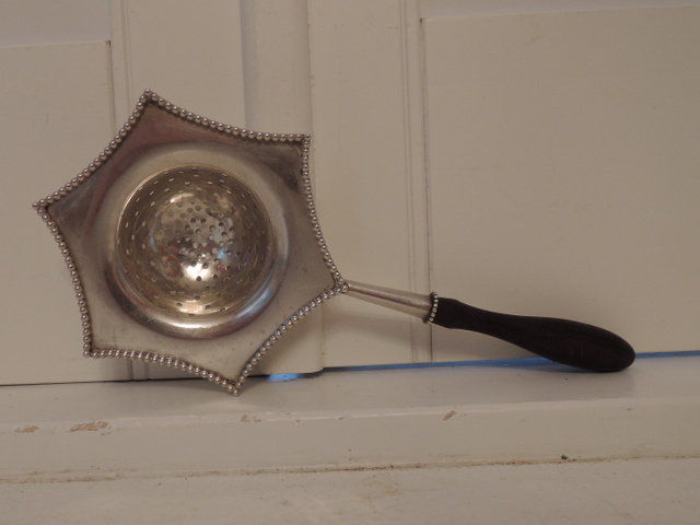Antique Sterling Silver Whiting & Co. Elegant Tea Strainer 19th C.