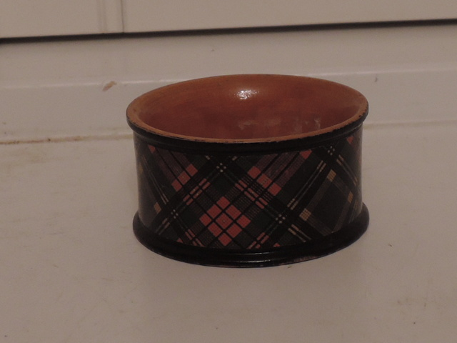 Antique Scottish Tartan Tartanware MacBeth Plaid Napkin Ring M'Beth