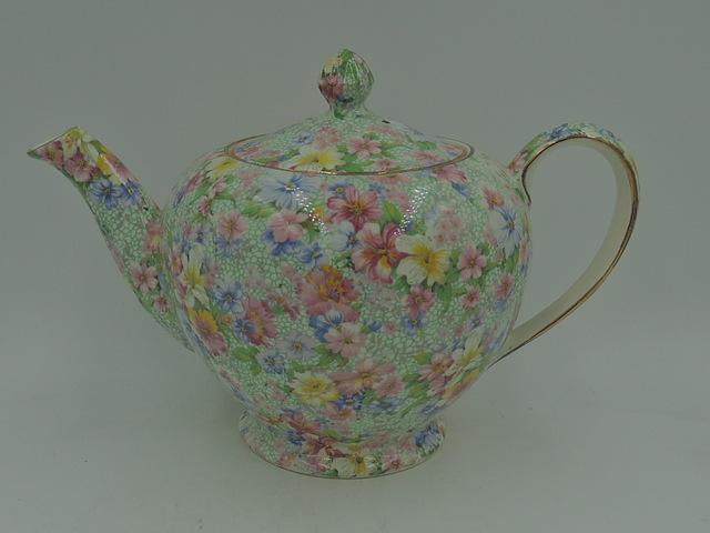 Vintage Royal Winton Chintz Marion Albans Teapot 1950's