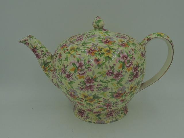 Vintage Royal Winton Chintz Estelle Albans Teapot 1950's