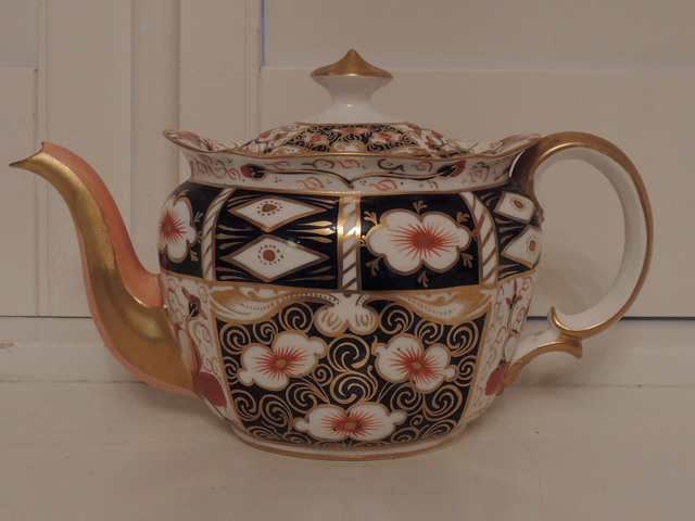 Vintage Royal Crown Derby Imari Teapot #2451
