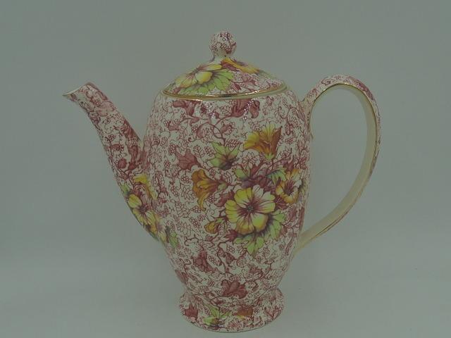 Vintage Royal Winton Chintz Dorset Coffee Pot Teapot
